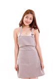 Happy, smiling cooking woman with apron isolated Royalty Free Stock Photo