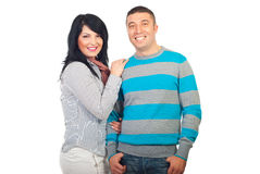 Happy smiling couple stock photos