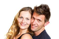 Happy smiling couple Stock Image