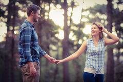 Happy smiling couple dancing Royalty Free Stock Photos