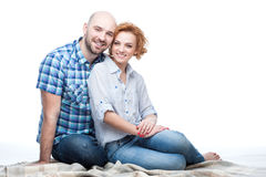 Happy smiling couple hugging Royalty Free Stock Images