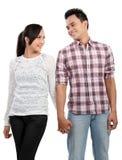 Happy smiling couple isolated on white background Royalty Free Stock Photos
