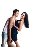 Happy smiling couple in love. Royalty Free Stock Image