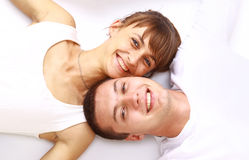 Happy smiling couple in love Royalty Free Stock Photo