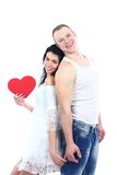Happy smiling couple in love Stock Images