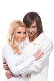 Happy smiling couple in love Royalty Free Stock Images
