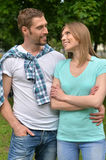 Happy smiling couple royalty free stock photography