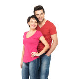 Happy smiling  couple standing together Royalty Free Stock Photos