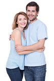 Happy smiling couple standing together. Royalty Free Stock Image