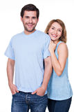 Happy smiling couple standing together. Stock Image