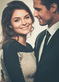 Happy smiling couple Stock Images