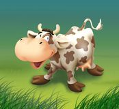 Happy smiling cow. Bitmap file `Happy smiling cow Stock Photos