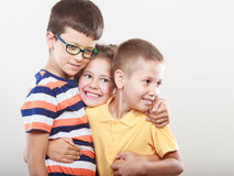 Happy smiling cute kids little girl and boys. Stock Photos