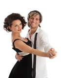 Happy smiling dancing couple Stock Image