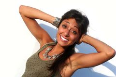 Happy Smiling Deafen Girl Stock Photos