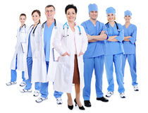 Happy smiling doctors and surgeons Royalty Free Stock Image
