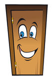 Happy smiling door Stock Images
