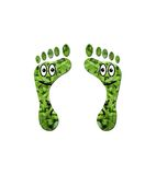 Happy smiling ecological footprints Stock Photos