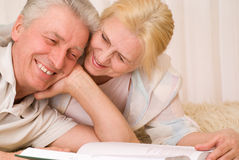Happy smiling elderly couple Royalty Free Stock Photo