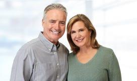 Senior couple smiling. royalty free stock photo