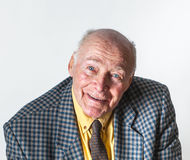 Happy smiling elderly man Stock Images