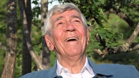 Happy Smiling Elderly Old Man Or Senior stock video footage