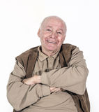Happy smiling elderly retired man Stock Photos