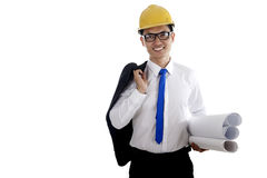 Happy smiling engineer Stock Photo