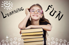 Happy, smiling excited young school student stock images