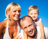 Happy smiling family Royalty Free Stock Photography