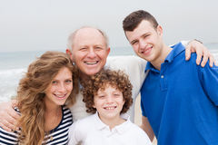 Happy smiling family on beach vacation Royalty Free Stock Image