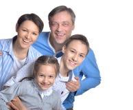 Happy smiling family Stock Photos