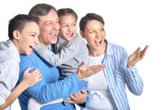 Happy smiling family Stock Photography