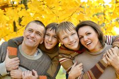 Happy smiling family Royalty Free Stock Image