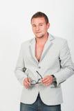 Happy smiling fashion  man standing Stock Image