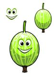Happy smiling fresh Chinese gooseberry Stock Photo