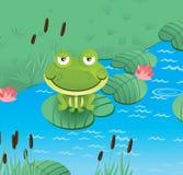 Happy smiling frog. Happy smiling green frog - vector illustration royalty free illustration