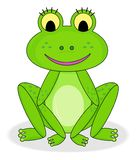 Happy smiling frog royalty free stock photos