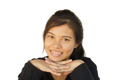 Happy smiling girl of Asian at leisure Royalty Free Stock Photography