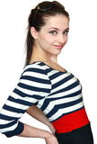 Happy smiling girl posing in bright dress Royalty Free Stock Image