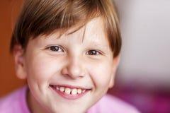 Happy smiling girl wearing bangs Stock Photos