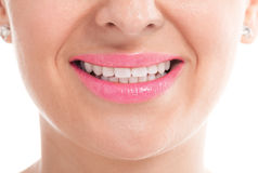 Happy smiling girl with whiten hygiene teeth Royalty Free Stock Image