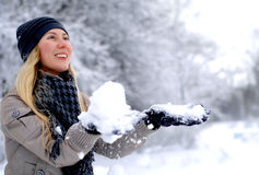 Happy smiling girl in winter Stock Image