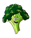Happy smiling green broccoli Royalty Free Stock Photography