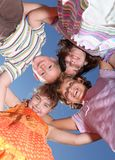 Happy Smiling Group of Young Friends Royalty Free Stock Photo