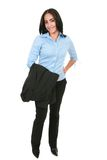 Happy Smiling Hispanic Businesswoman Standing Stock Images