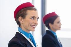 Happy smiling hostess Stock Photo