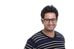 Happy smiling Indian young man portrait Stock Image