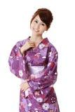 Happy smiling Japanese beauty Royalty Free Stock Photos