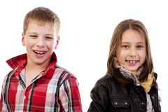 Happy smiling kids Stock Photo